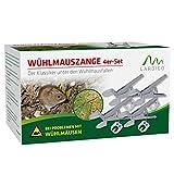 Gardigo Wühlmausfalle 4er Set I Wühlmauszangenfalle mit Köderblech I...