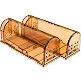 DaoRier Groß Mausclip, Rat Käfig Mausefalle, Nagetierbekämpfung MäusefallenGerät, Lebendfalle für Mäuse, Mausefalle Lebend - Die tierfreundliche Lebendfalle Rattenfalle - Mäuse einfach fangen, 17*6.